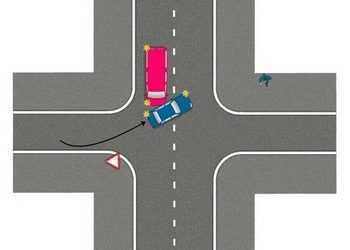 Рисунок аварии на перекрестке