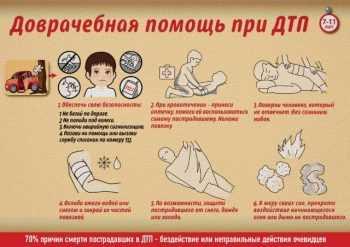 Доврачебная помощь при дтп до 11 лет