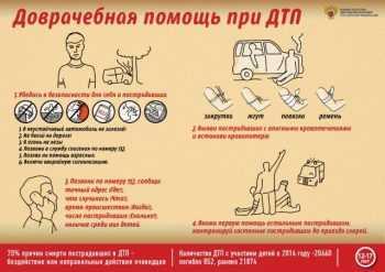 Доврачебная помощь при дтп от 12 лет